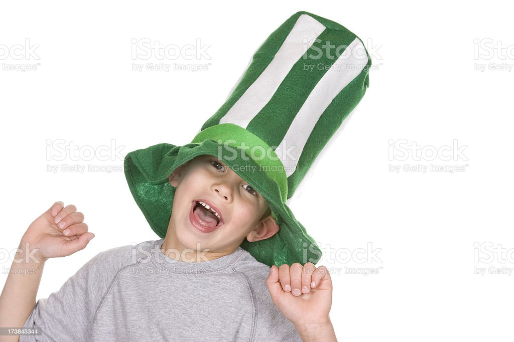 St Patrick's Day Laughter royalty-free stock photo
