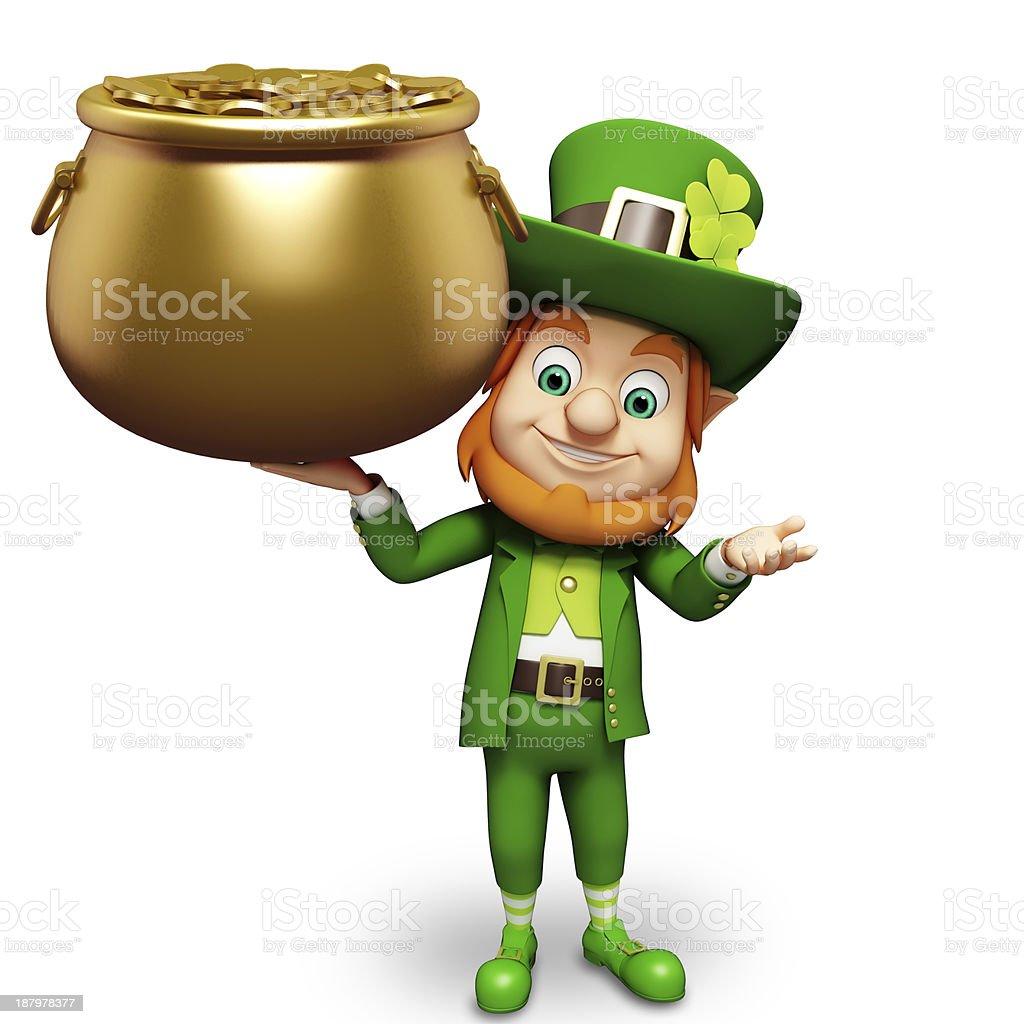 Uncategorized Animated Leprechaun st patricks day leprechaun with golden pot stock photo istock royalty free photo