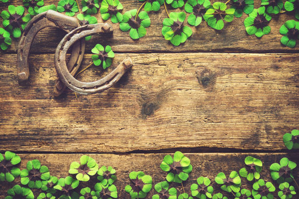 st. patrick's day, lucky charms - luck of the irish stock photos and pictures