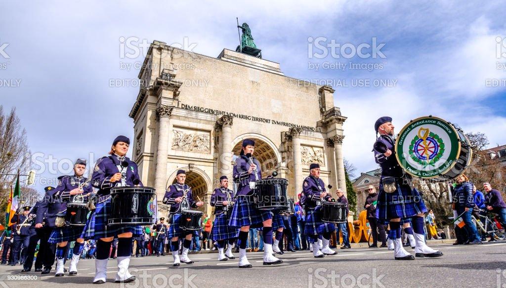 St. Patricks day - Munich stock photo