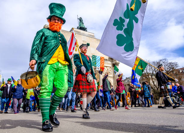 st. patricks day - munich - st patricks days stock photos and pictures