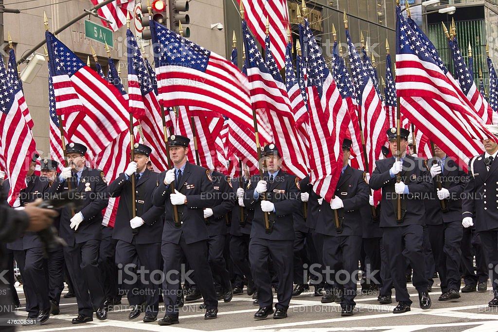 St. Patricks Day Parade NYC stock photo