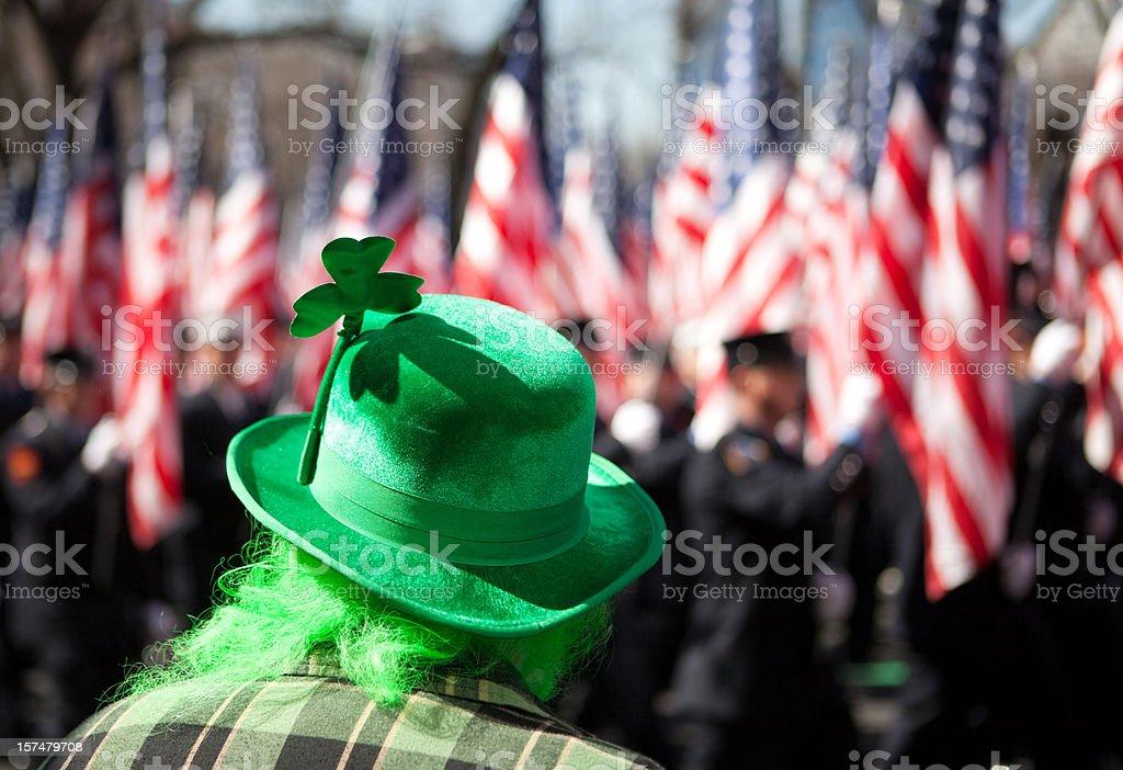 St. Patrick's Day Parade royalty-free stock photo