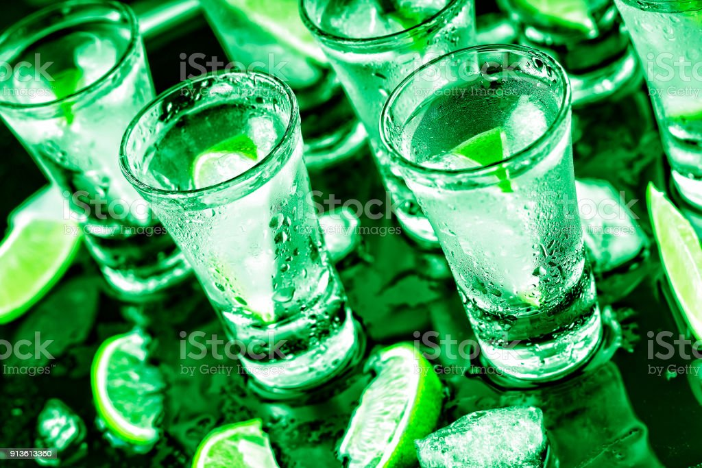 St. Patrick's Day party, Alcoholic, cocktail, lime, ice, Vodka,