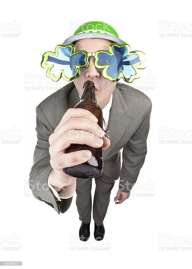 St. Patrick's Day Party Guy royalty-free stock photo
