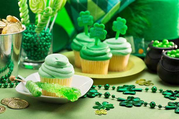 st. patricks day party - st patricks day food stock photos and pictures