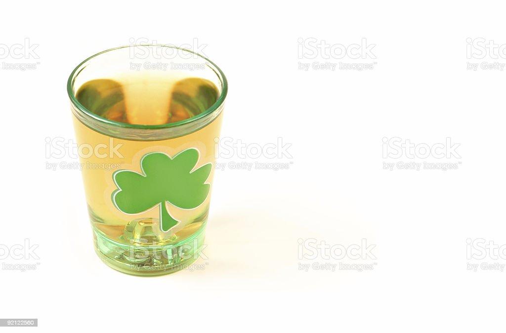 St. Patrick's Day Shot royalty-free stock photo