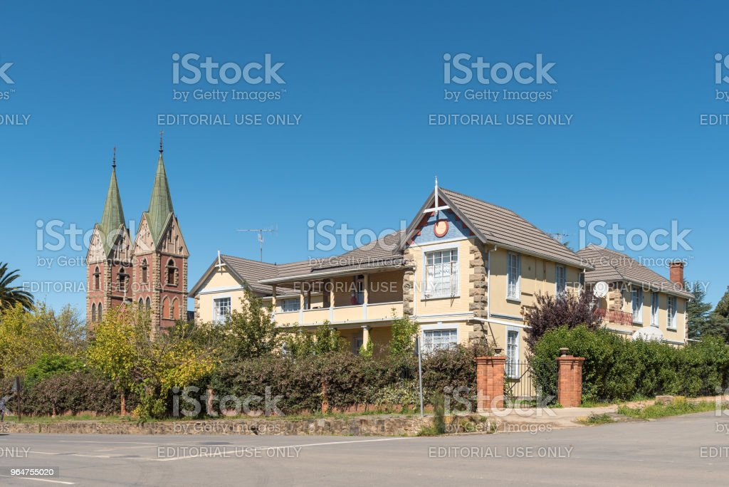 St Patricks Roman Catholic Cathedral and school in Kokstad royalty-free stock photo