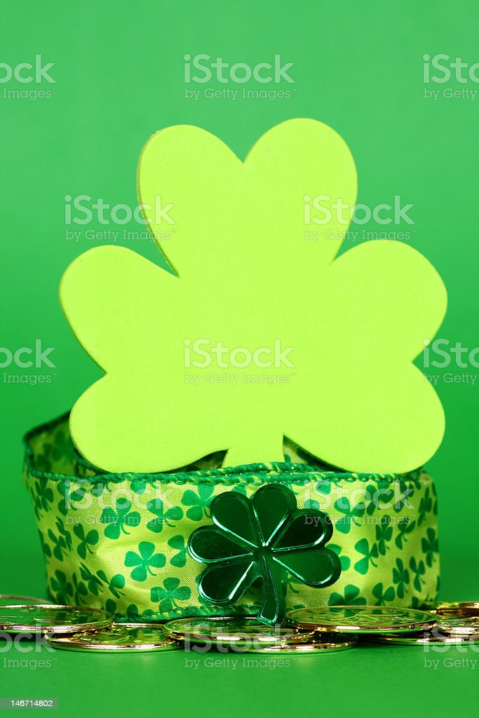 St. Patty's Day Clover stock photo