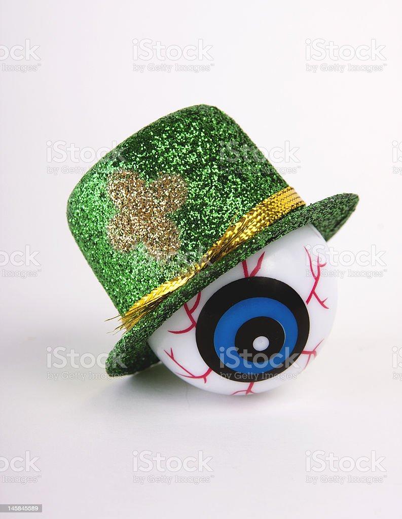 St. Patty's Day Eyeball stock photo