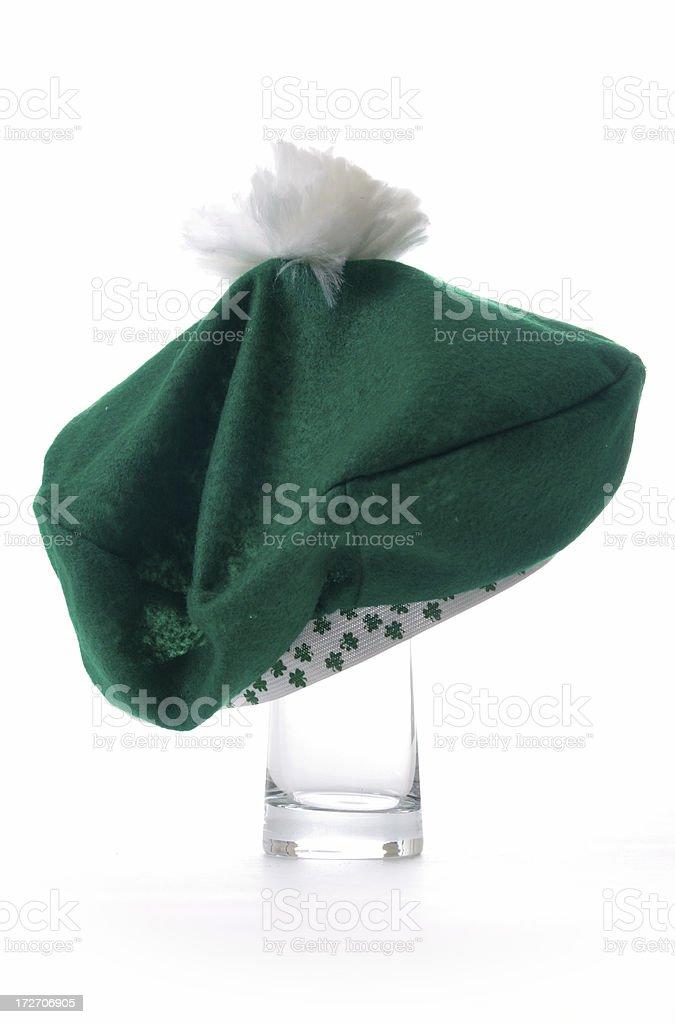 St. Patty's Day Hat wearing glass stock photo