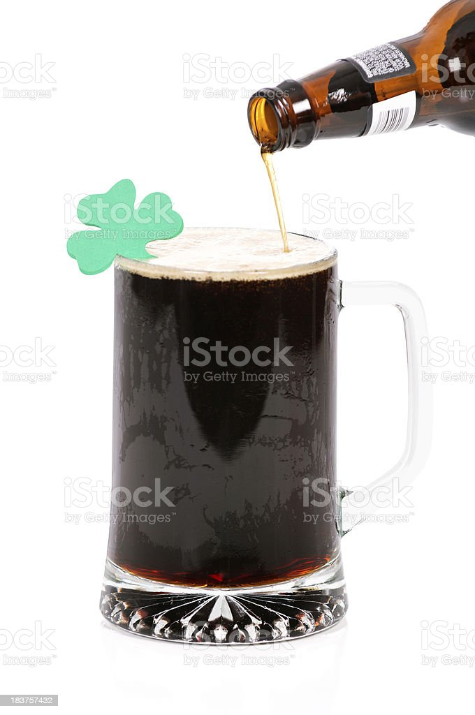 St. Patty's Day Irish Beer stock photo