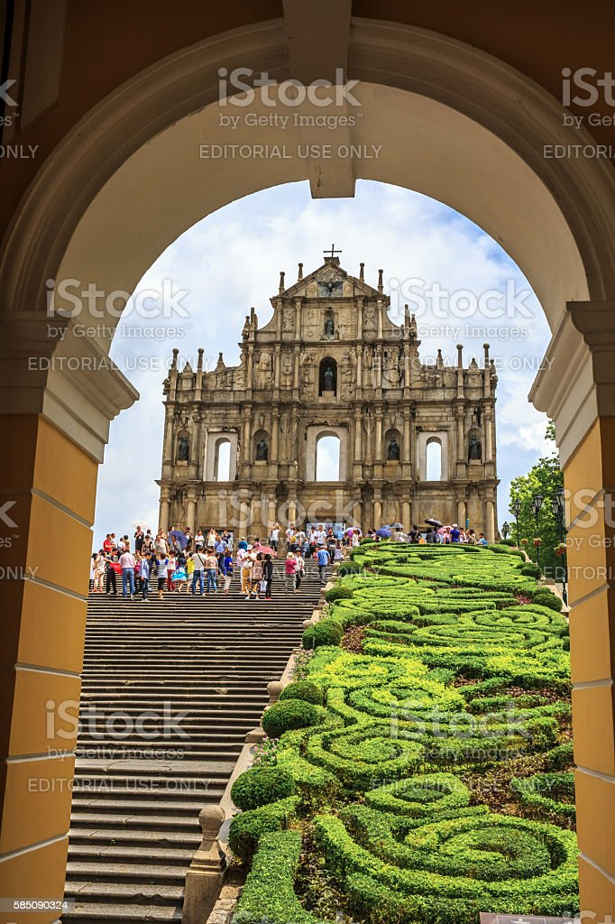 St. Paul Cathedral at Macao. – Foto