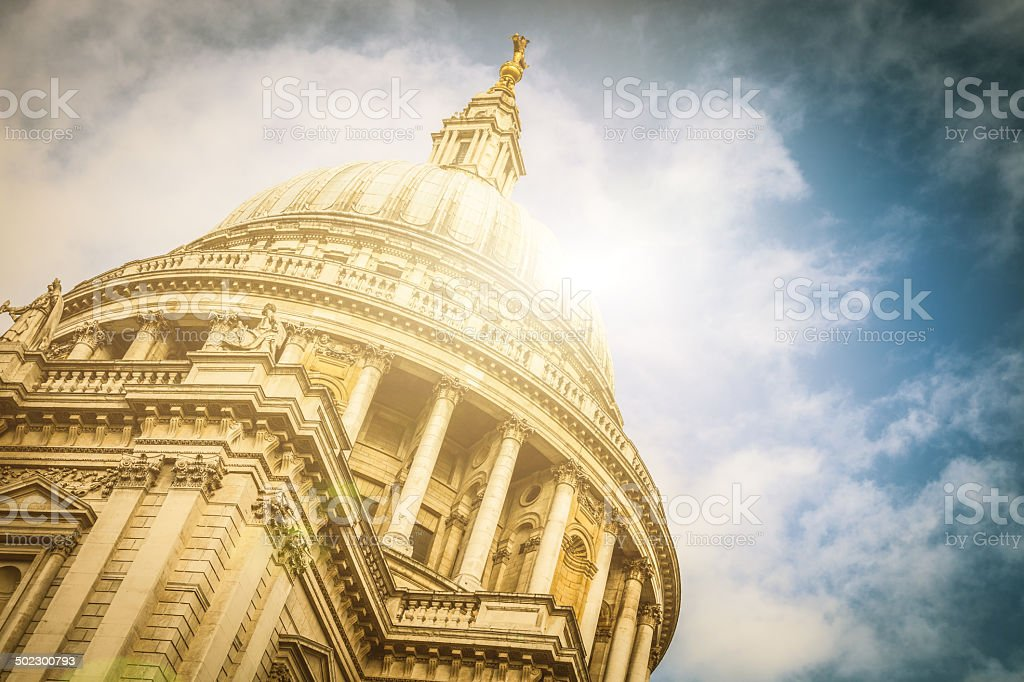 St. Paul Cathedral in London royalty-free stock photo