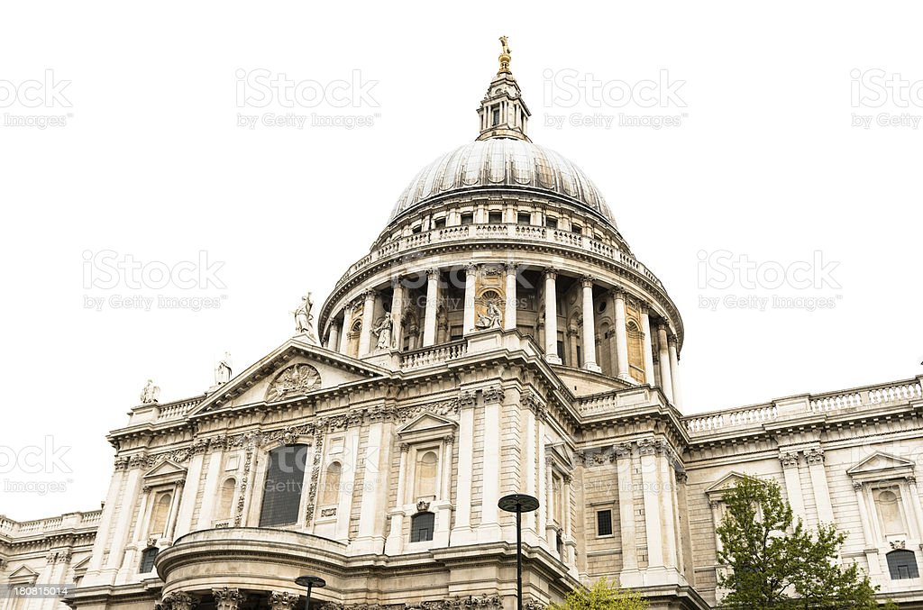 St. paul cathedral on white stock photo