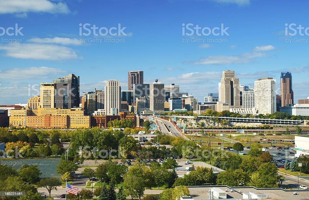 St. Paul downtown skyline stock photo