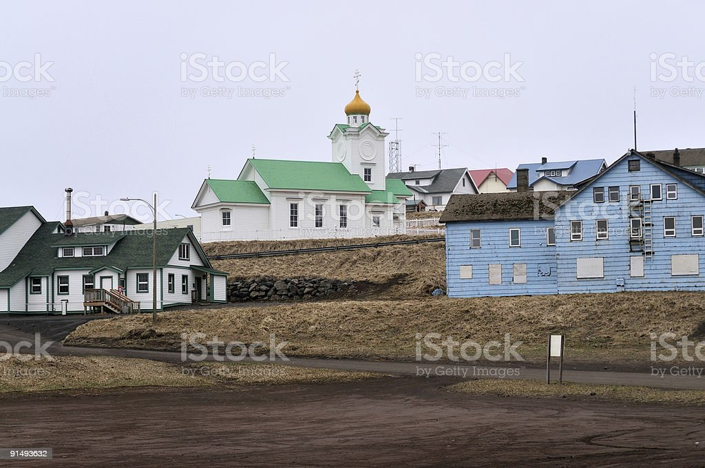 St Paul Island Russian Orthodox Church In Old Town stock photo