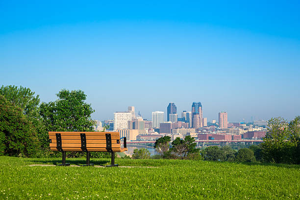 St. Paul Skyline of St, Paul in Minnesota, USA minnesota stock pictures, royalty-free photos & images