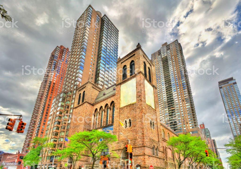 St. Paul the Apostle Church in Manhattan, New York City stock photo