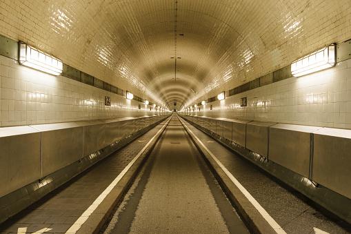 St- Pauli Elbe tunnel, Hamburg, Germany