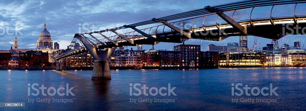St Paul's and the Millennium Bridge stock photo