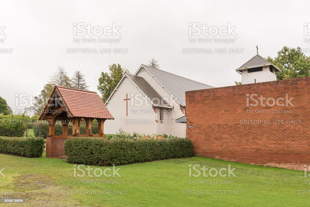 St Pauls Anglican Church in Mooi River stock photo