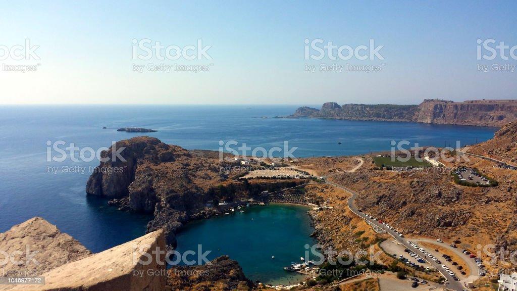 St. Paul's Bay in Lindos, Rhodes, Greece – zdjęcie