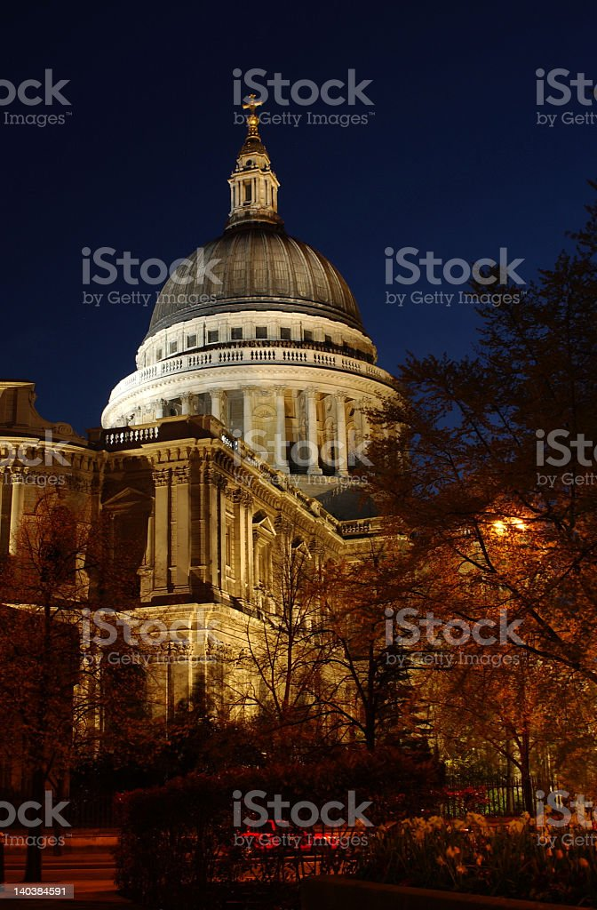 St Pauls Cathedral at night royalty-free stock photo