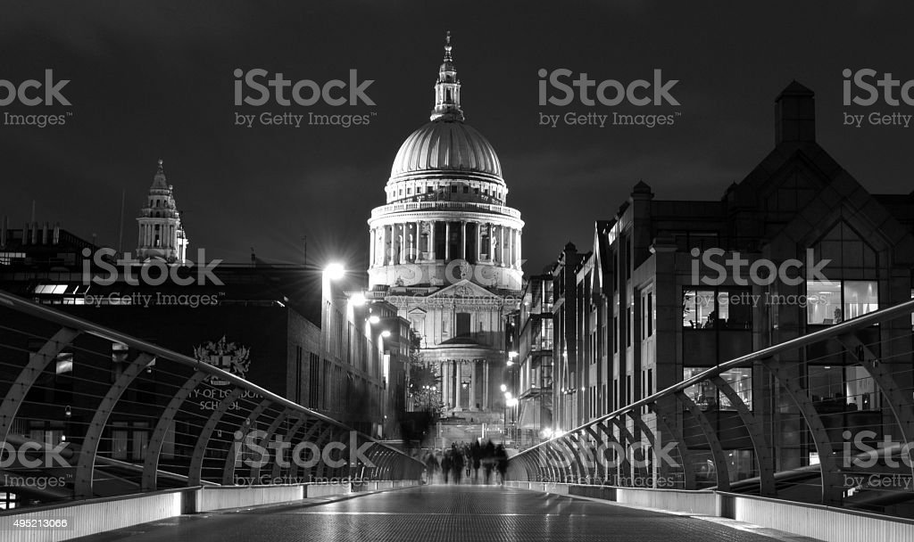 St Paul's Cathedral, Black and White stock photo