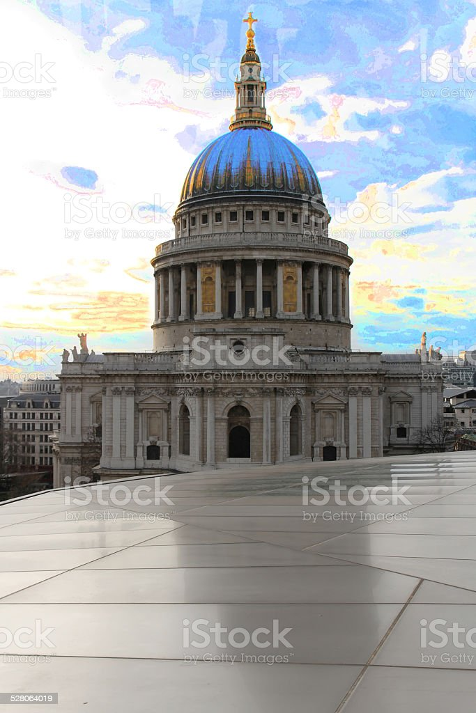 St Paul's Cathedral City of London England UK stock photo