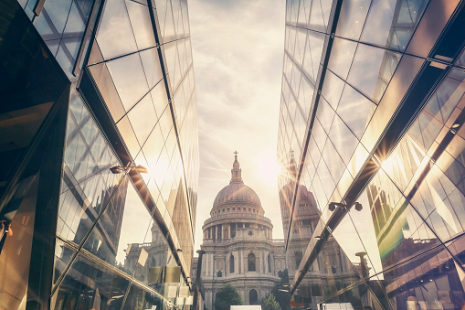 istock St Paul's Cathedral dome at sunset In London 1002336362