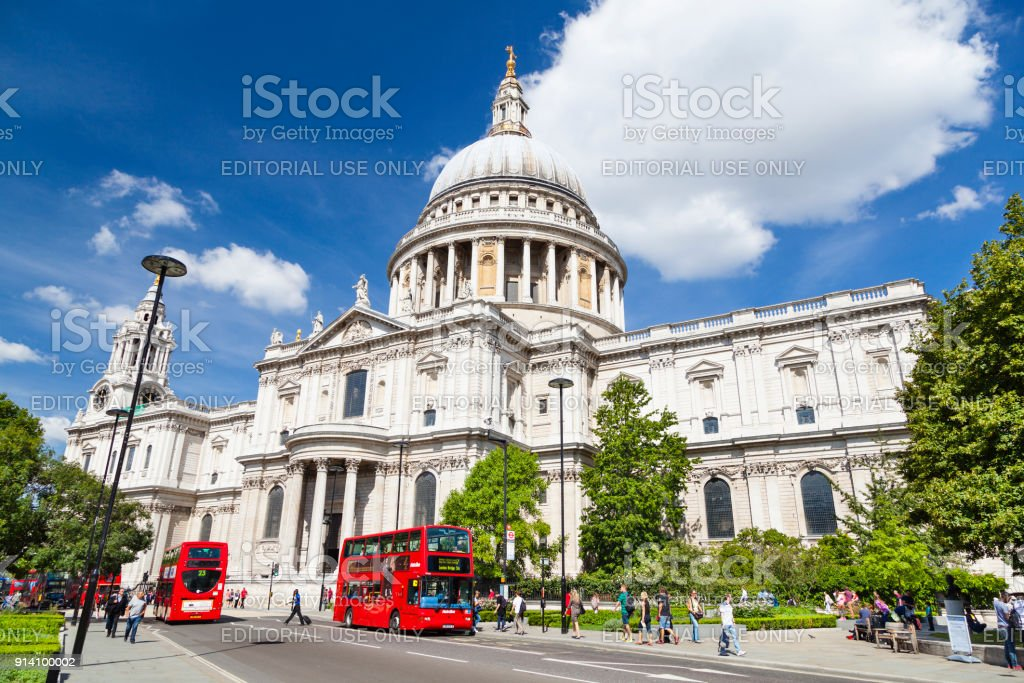 St. Pauls Cathedral in London, redaktionelle – Foto