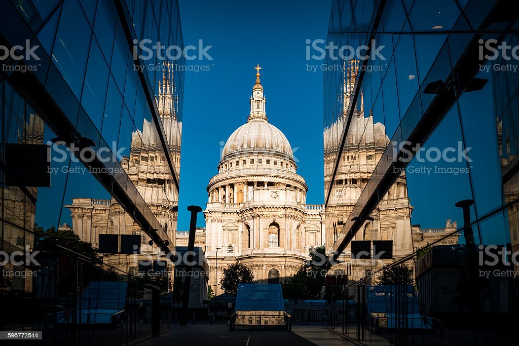 St Paul's cathedral in London, England, UK stock photo