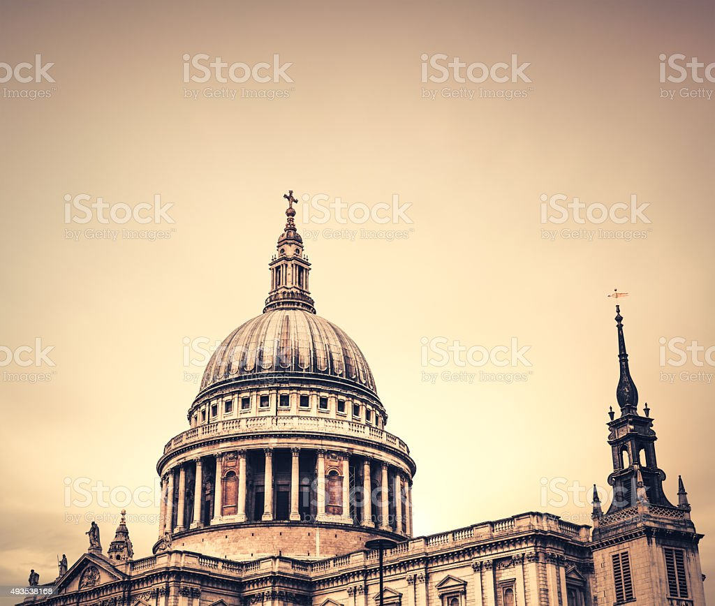 St Paul's Cathedral In London stock photo