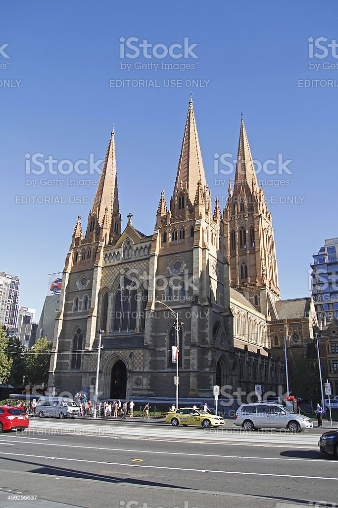 St. Paul's Cathedral in Melbourne royalty-free stock photo