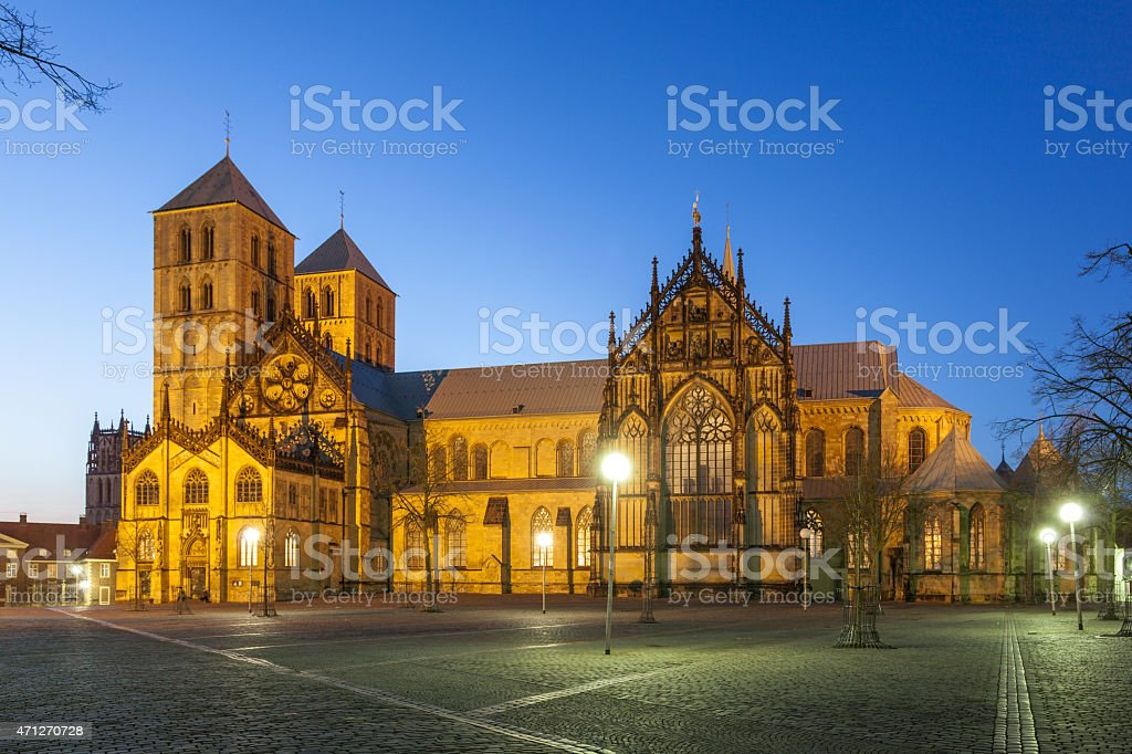 St. Paul's cathedral in Muenster, Germany stock photo