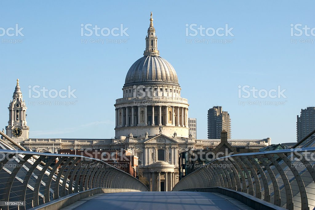 St Paul's Cathedral, London, copy space stock photo