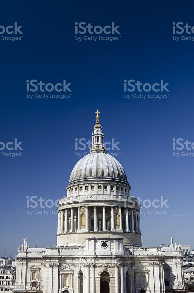 St Paul's Cathedral London on a beautiful summers day royalty-free stock photo