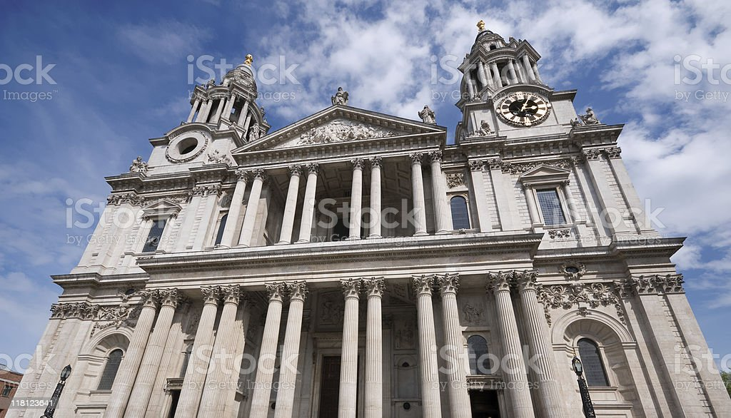 St Pauls cathedral. London stock photo