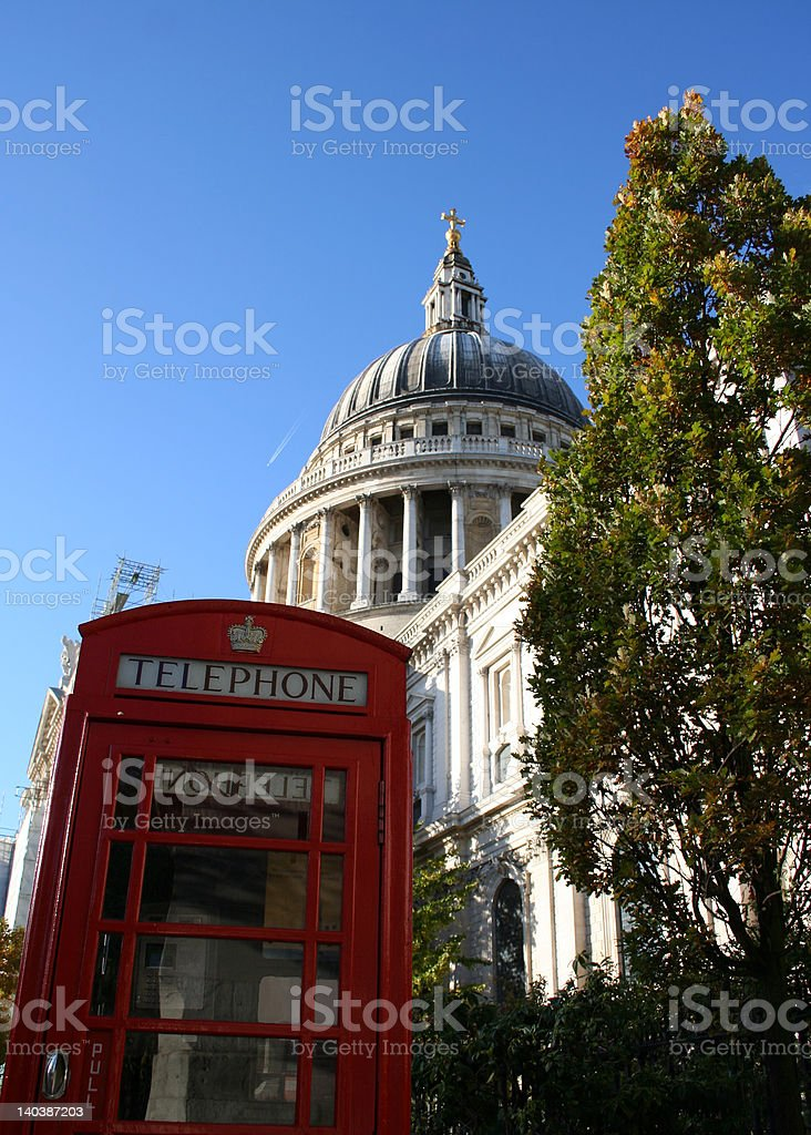 St Pauls Cathedral, London royalty-free stock photo