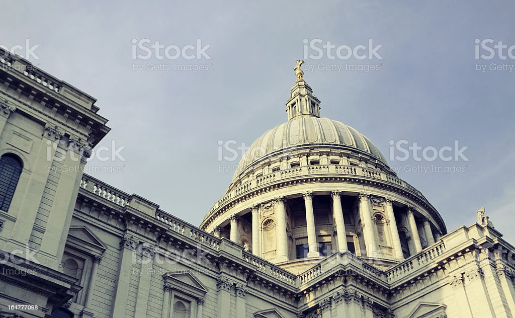 St Paul's Cathedral London royalty-free stock photo