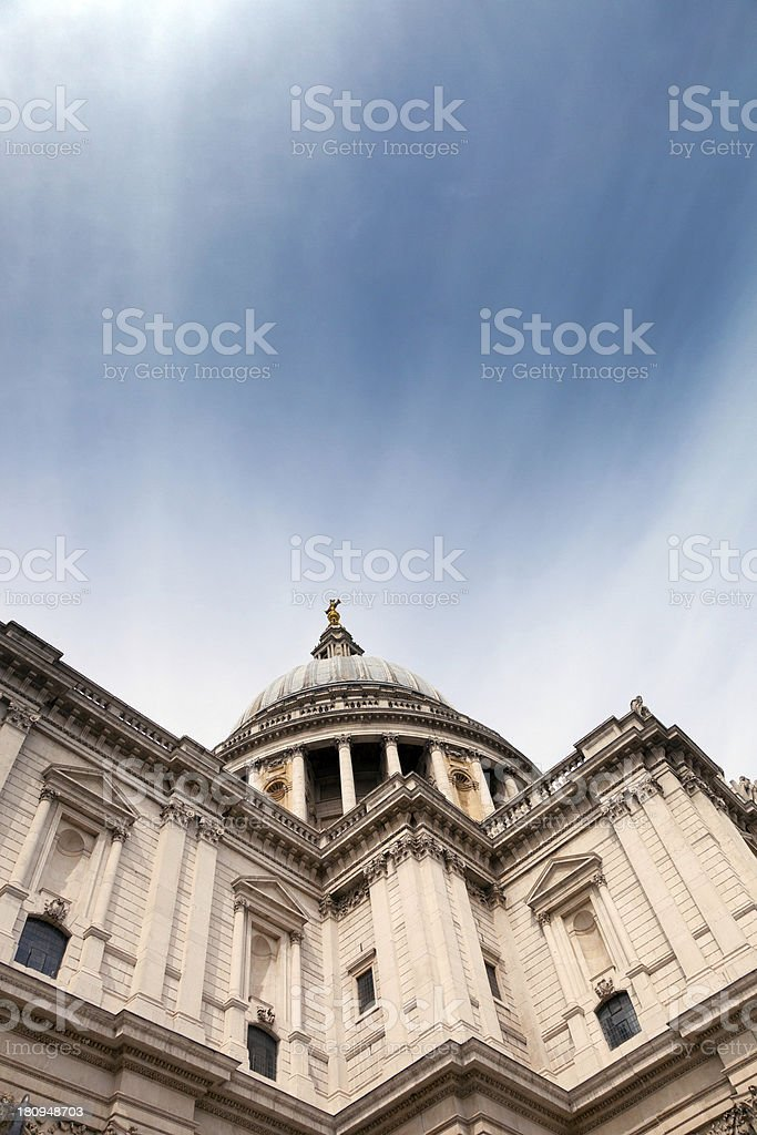 St Paul's Cathedral, London royalty-free stock photo