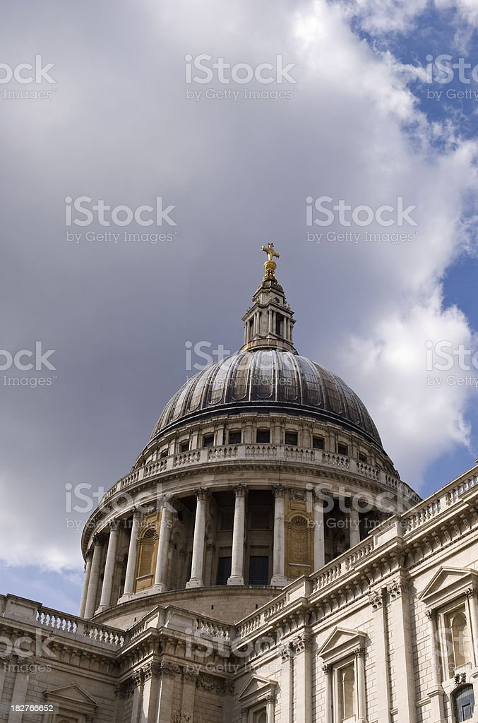 St Paul's Cathedral, London stock photo