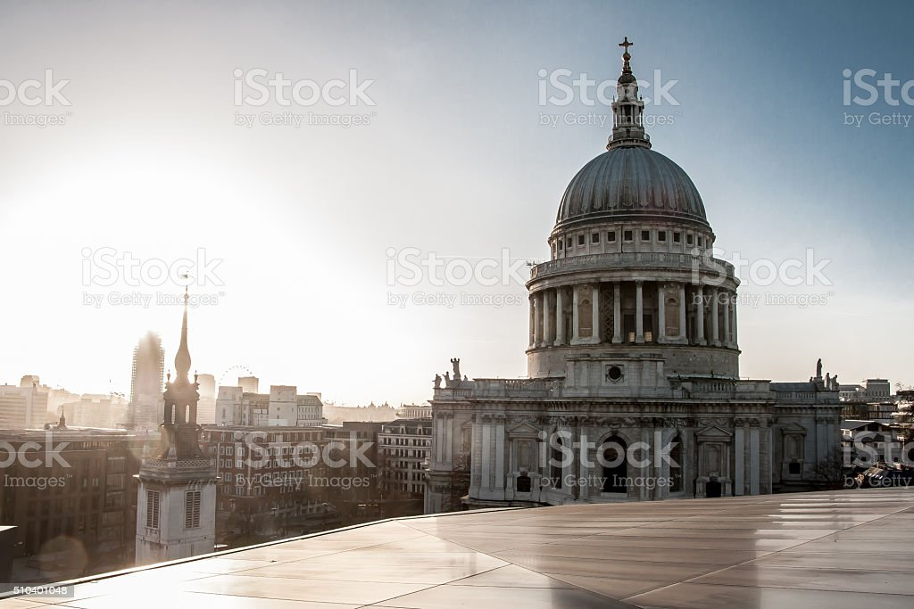 St Paul's Cathedral London Skyline stock photo