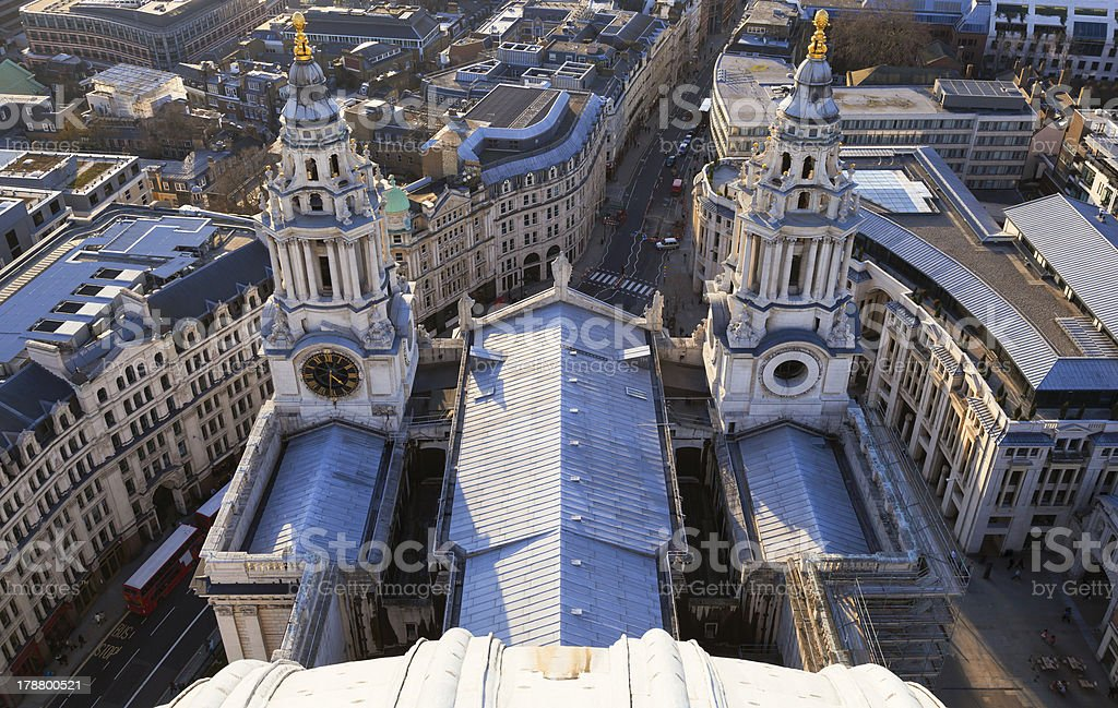 St Paul's Cathedral Roof View City of London royalty-free stock photo