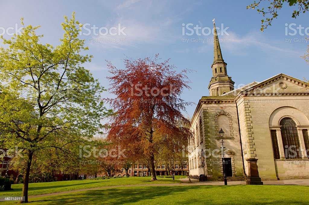 st Paul's church, Birmingham. stock photo