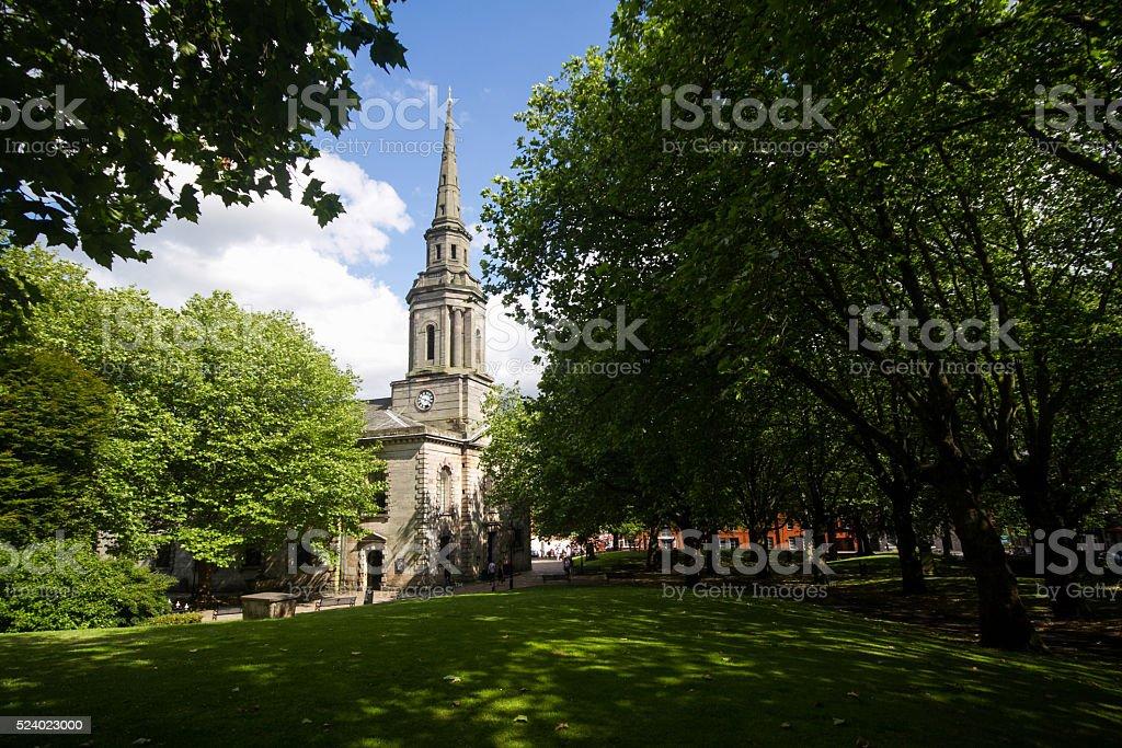 St Paul's Church Birmingham stock photo