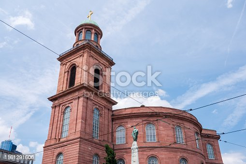 Exterior of modern St Paul's church, Paulskirche, in the centre of Frankfurt, Germany