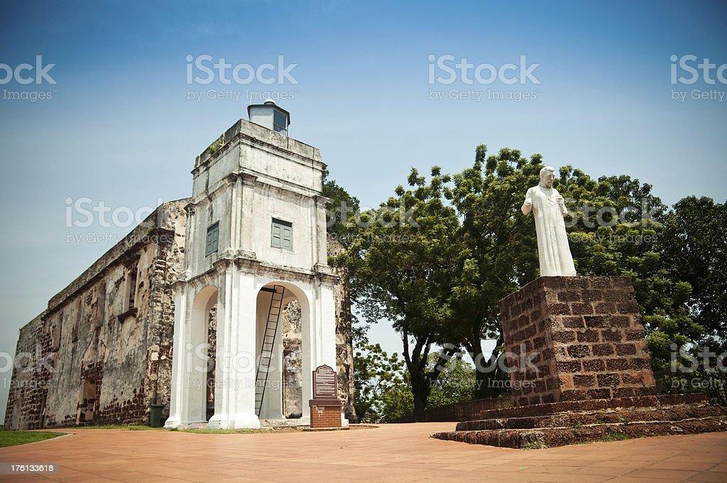 St. Paul's Church in Melaka stock photo