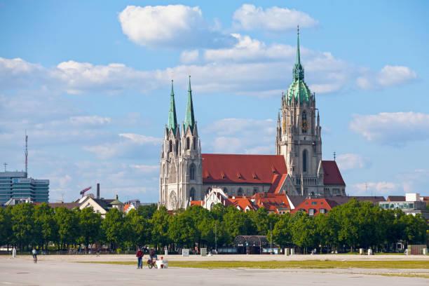 St. Paul's Church in Munich stock photo